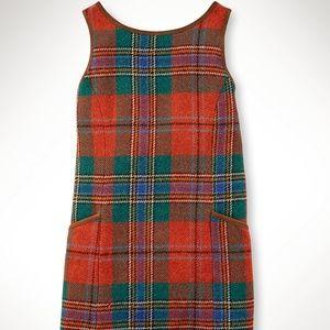 Ralph Lauren Plaid Tailored Shift Dress